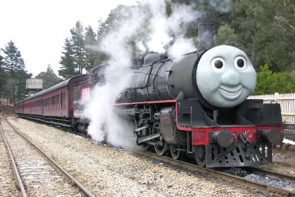 Zig-Zag railway train