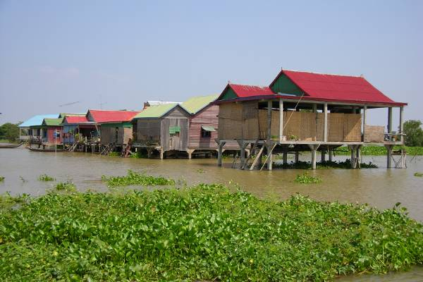 Houses by the Mekong river