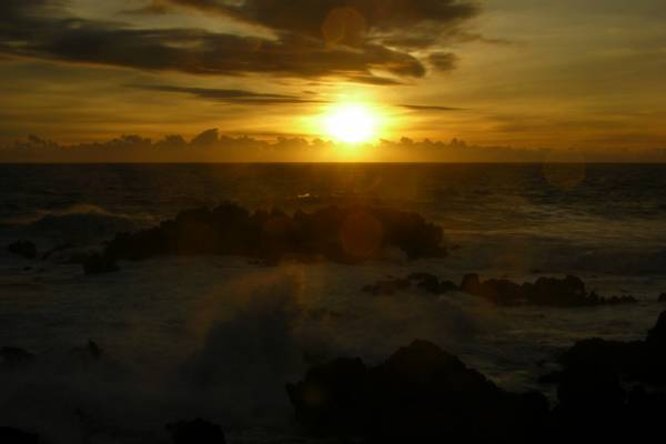 Easter Island sunset