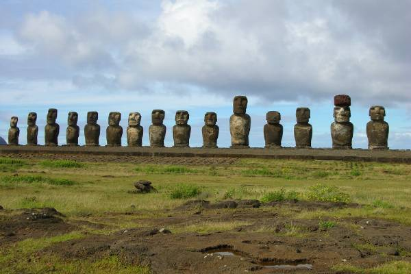 Lots of moai