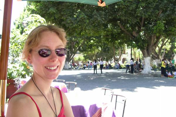 Claire doing lunch, Oaxaca