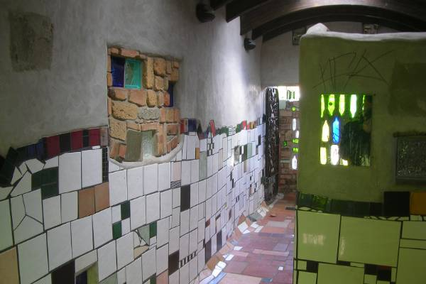 The Hundertwasser public toilets, at Kawakawa.
