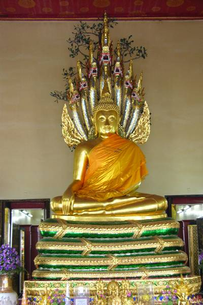 Buddha on snake