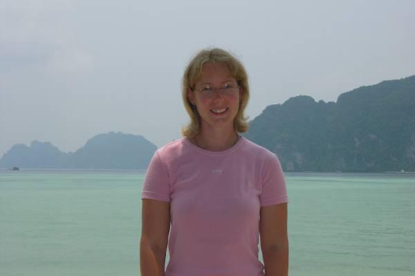 Claire on a Ko Phi Phi beach